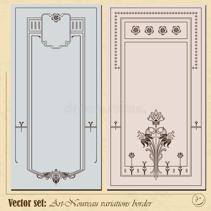Abstract framework. From the plants in style art-nouveau royalty free illustration