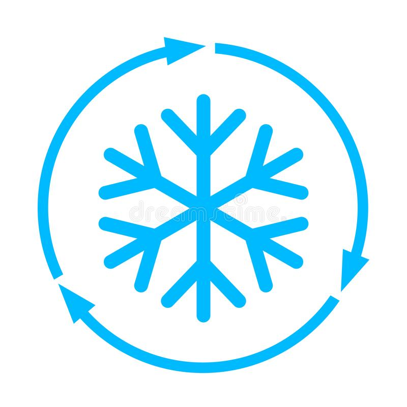 Abstract freezing vector flat icon. Isolated on white background vector illustration