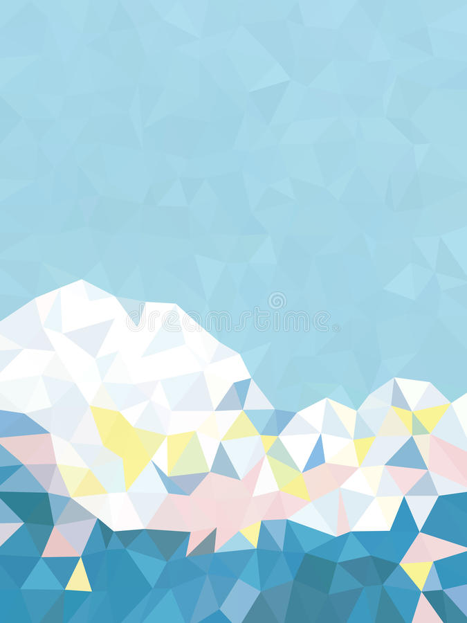 Abstract fresh blue and white triangles background vector illustration