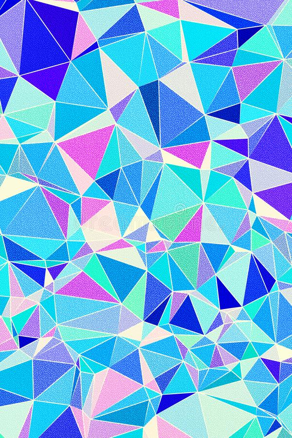 Abstract fresh colors low poly pattern background design stock image