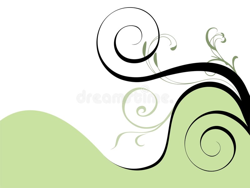 Abstract fresh floral design royalty free illustration