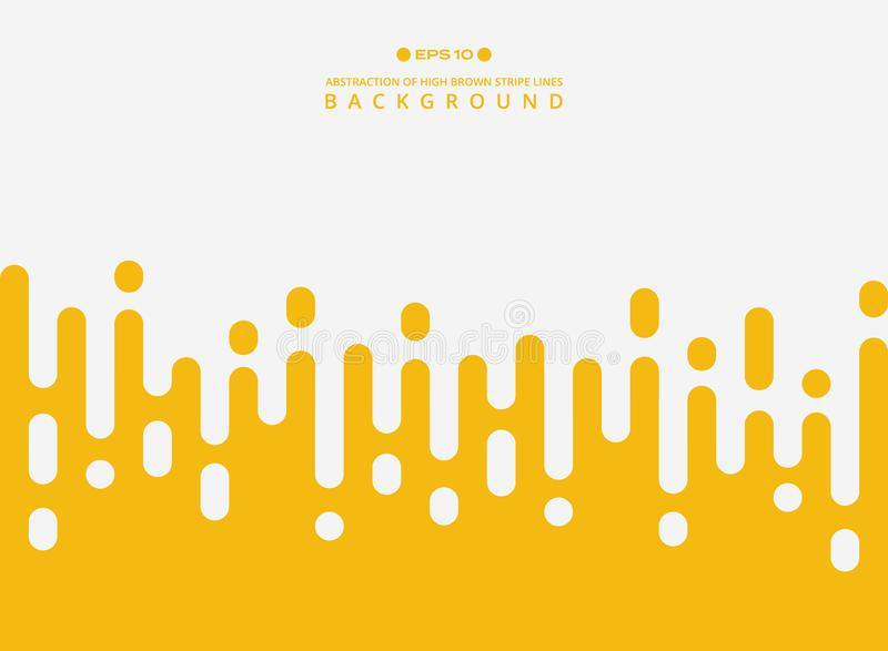 Abstract of fresh yellow color stripe lines pattern background. vector illustration