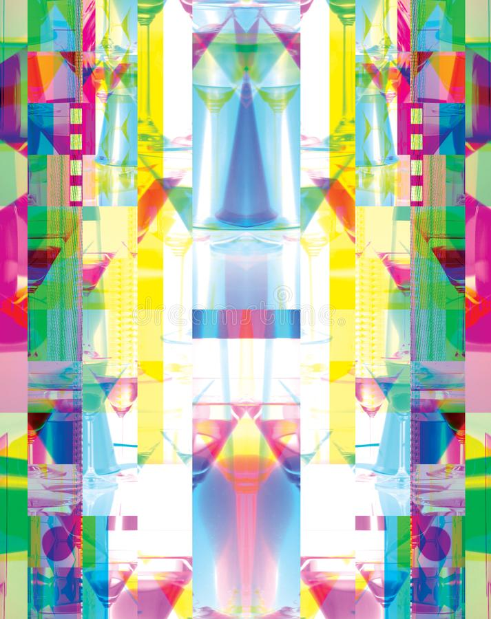 Abstract full of colors. Screen glitch royalty free illustration