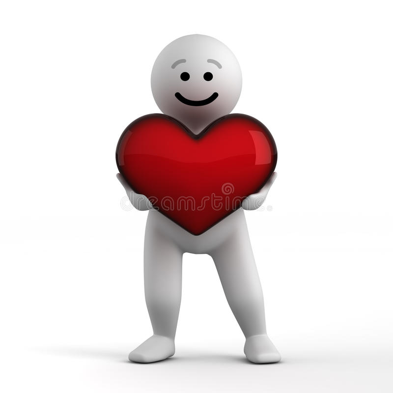 Download Abstract Funny Character With Heart Stock Illustration - Image: 12671780