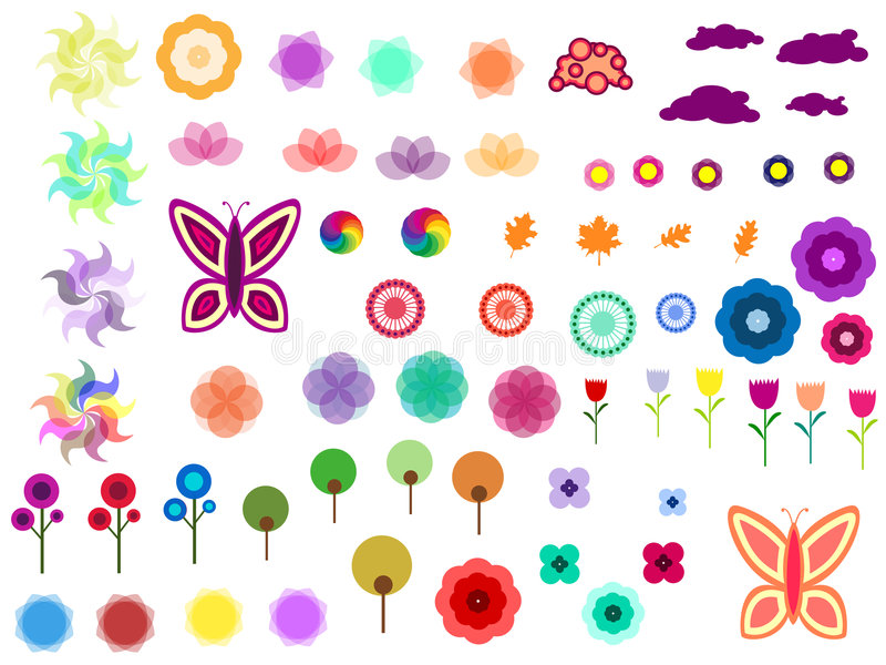 Download Abstract Funny Design Elements Stock Vector - Image: 8189343