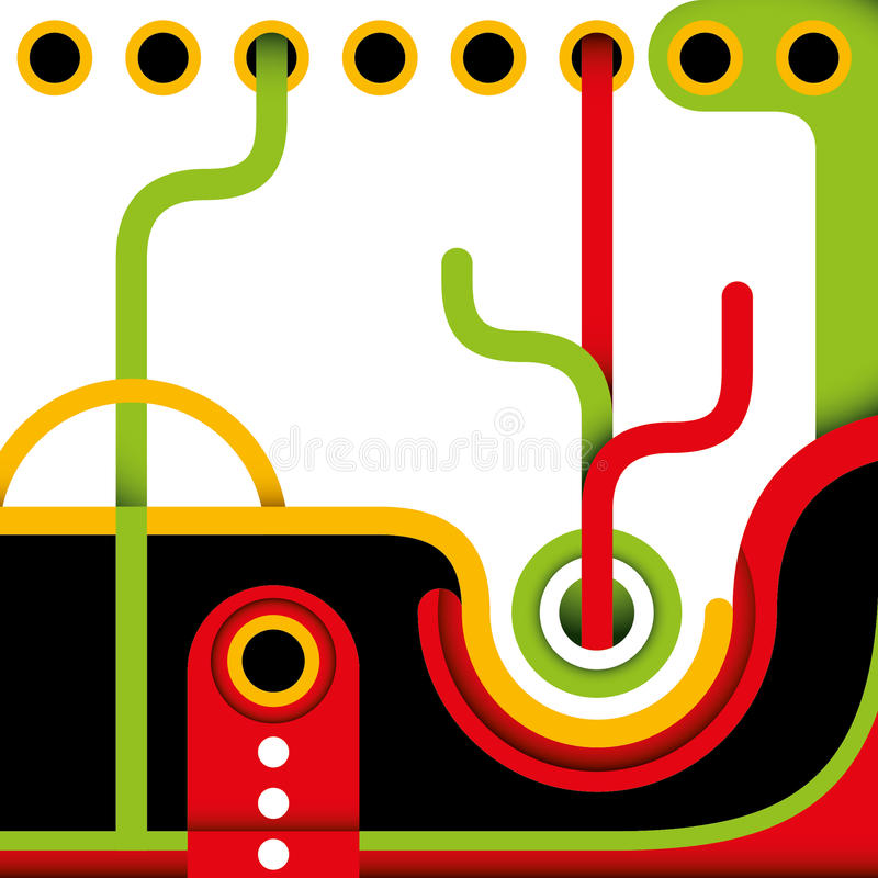 Abstract Funny Layout. Royalty Free Stock Images