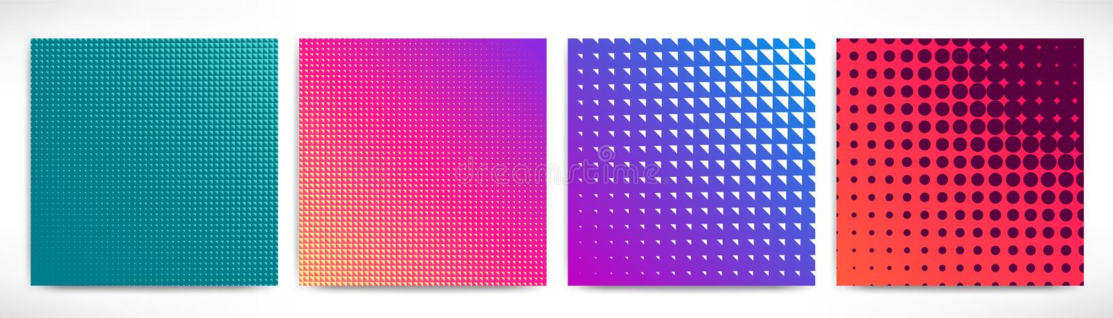 Abstract future backgrounds set vector illustration