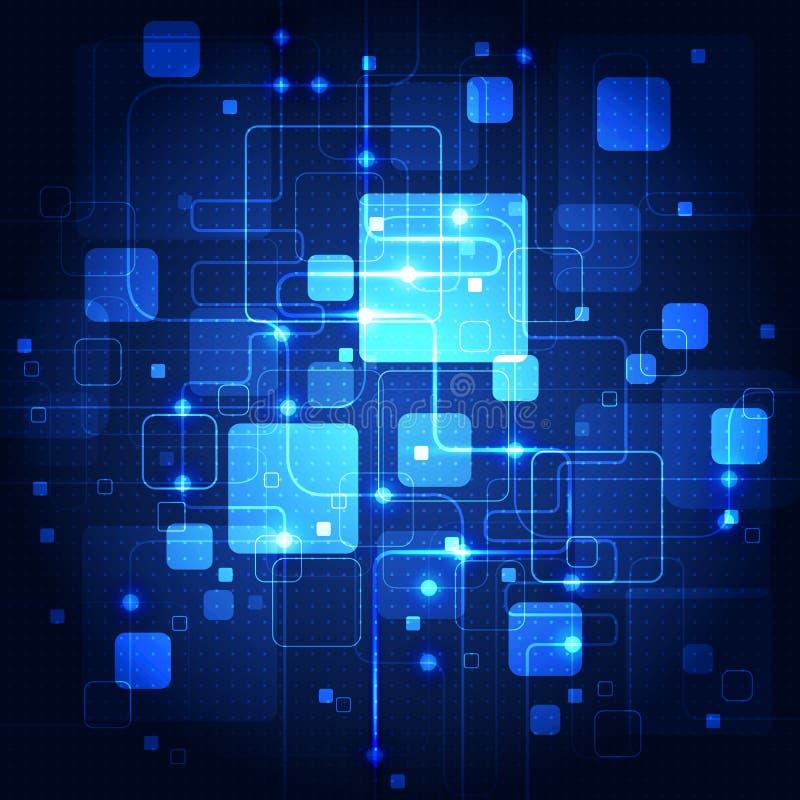 Abstract Future Communication Technology, Illustration ...