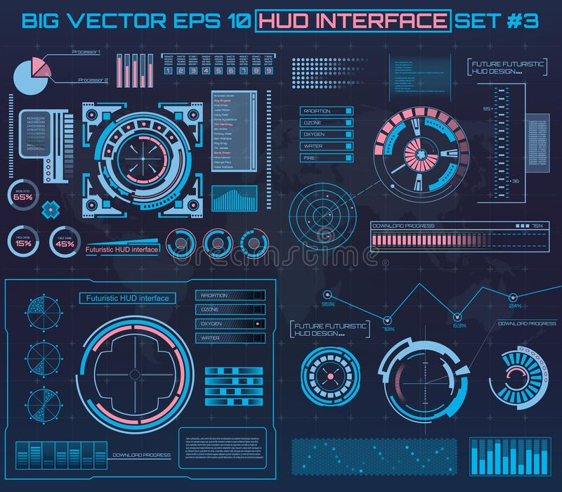 Abstract future, concept vector futuristic blue virtual graphic touch user interface HUD. For web, site, mobile vector illustration