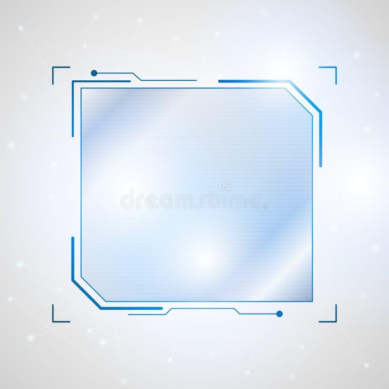 Abstract future futuristic shape virtual graphic user interface stock illustration
