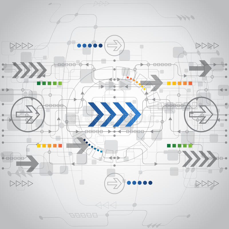 Abstract future technology concept background, vector royalty free illustration
