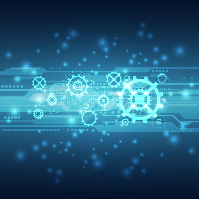Abstract future technology concept background, vector illustration stock illustration