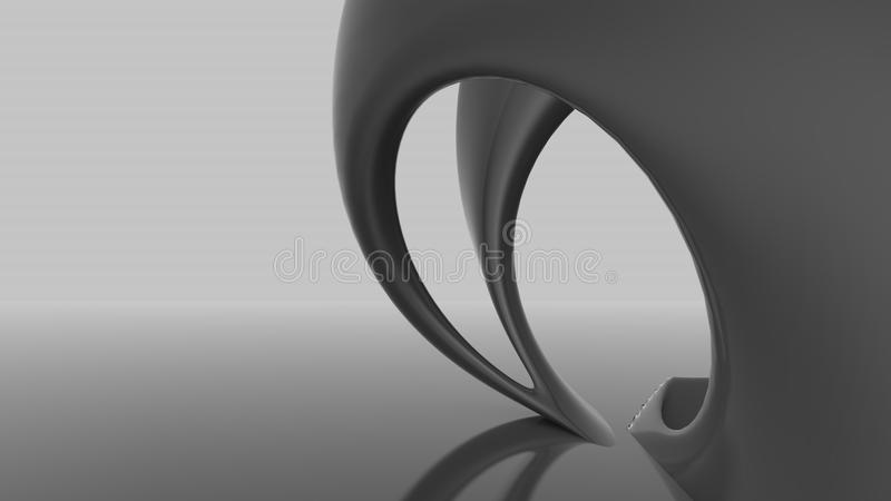 Abstract futuristic architecture organic shapes vector illustration