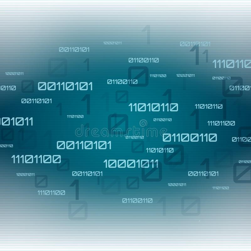 Abstract futuristic background. Digital technology binary code royalty free illustration