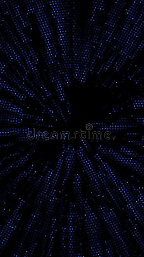 Abstract futuristic background with squares of different sizes and different shades of blue. Vector illustration. For creating new layouts in modern royalty free illustration