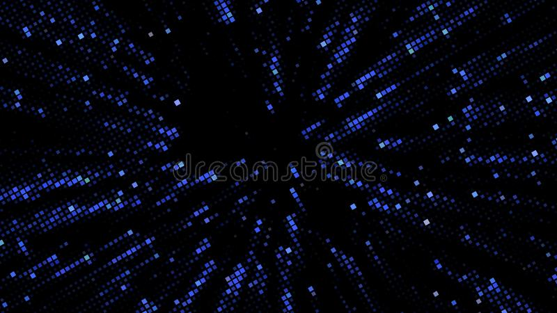 Abstract futuristic background with squares of different sizes and different shades of blue. Vector illustration. For creating new layouts in modern vector illustration