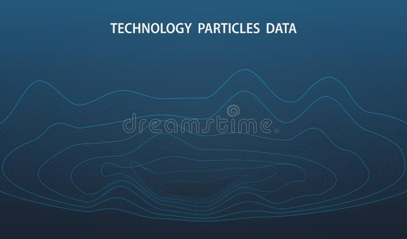 Abstract futuristic big data of dots particle decoration design background. illustration vector eps10 vector illustration