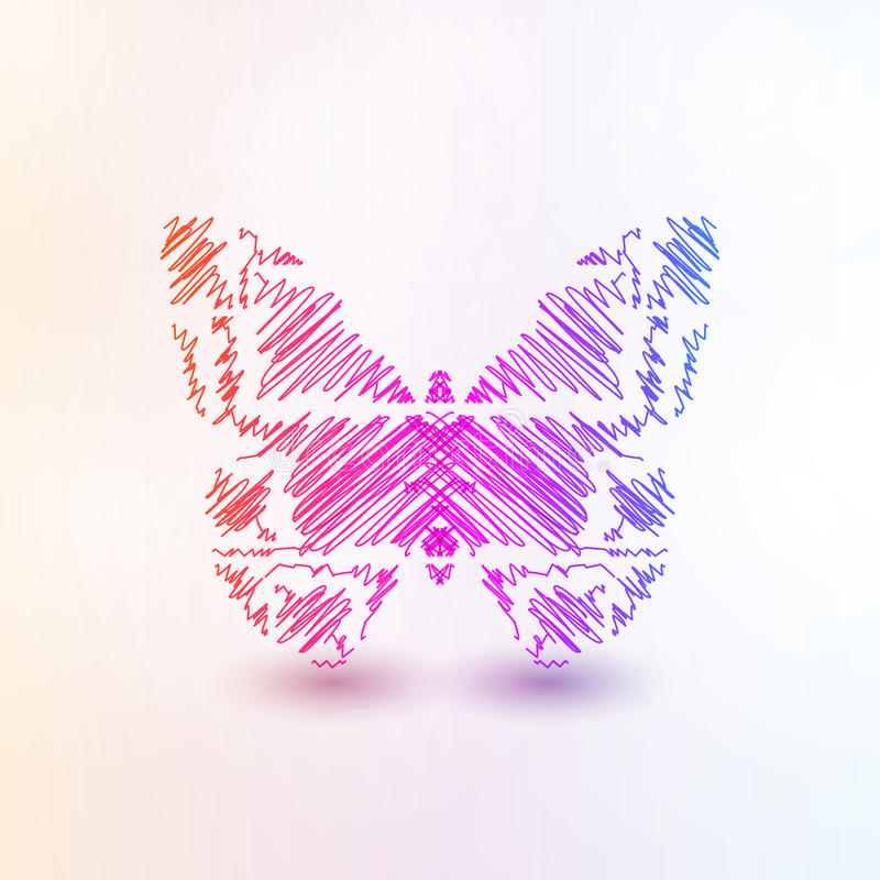 Abstract futuristic butterfly. Abstract butterfly, futuristic colorful vector illustration eps10 stock illustration