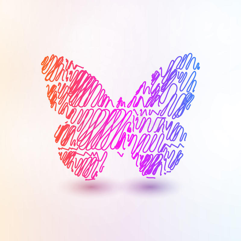 Abstract futuristic butterfly. Abstract butterfly, futuristic colorful vector illustration eps10 vector illustration