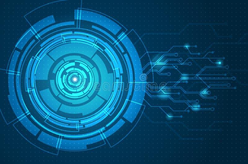 Abstract futuristic circuit board background stock illustration