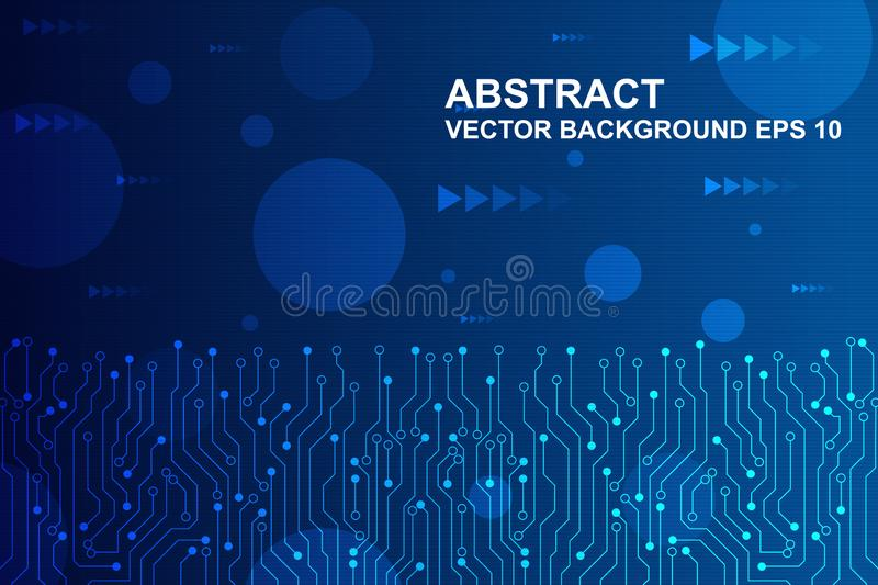 Abstract futuristic circuit board, Hi-tech digital technology concept. vector illustration royalty free illustration