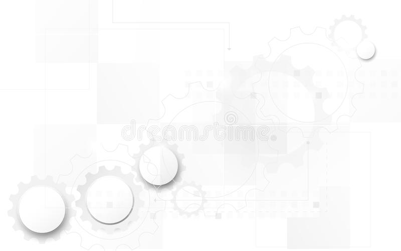 Abstract futuristic circuit board technology digital hi tech background. Space for your text royalty free illustration