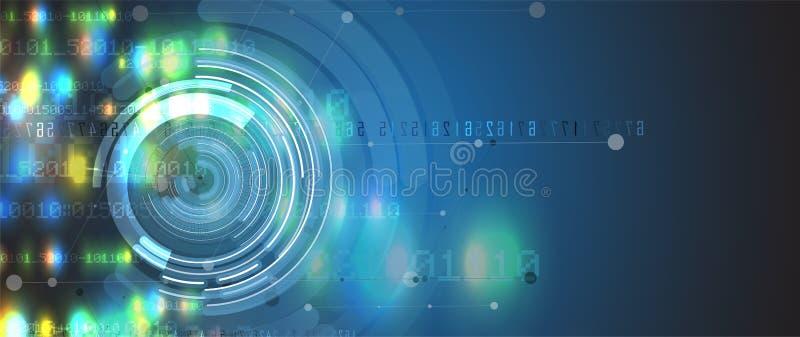 Abstract futuristic circuit computer internet technology board b. Usiness dark background vector illustration