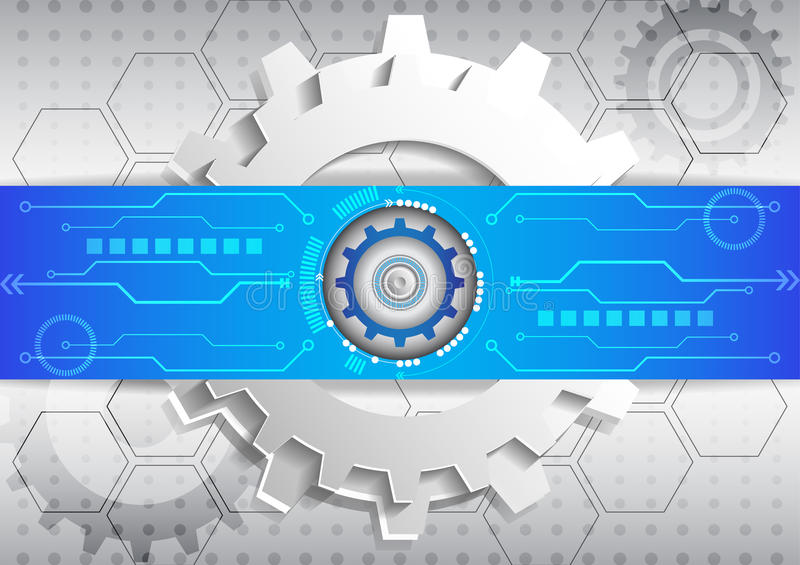 Abstract futuristic circuit high computer technology business background vector illustration