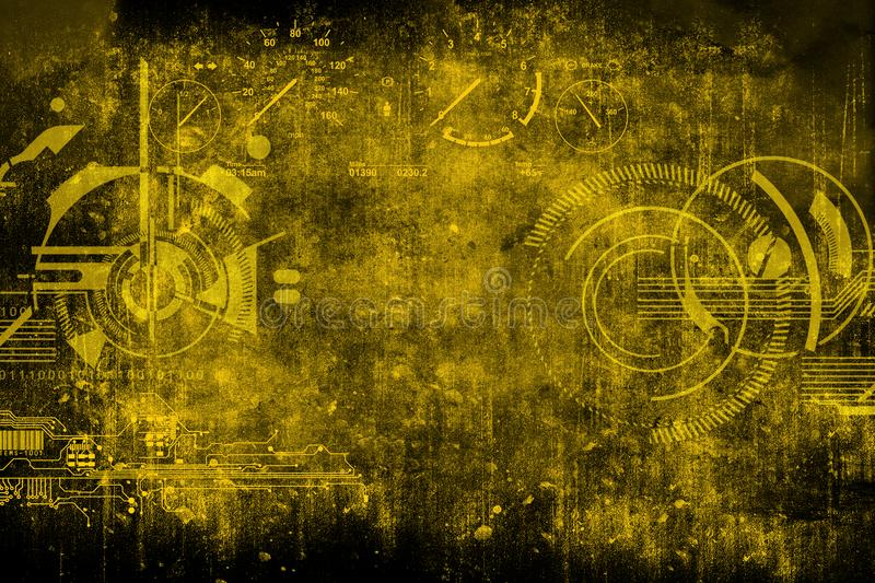 Abstract futuristic cyber grunge industrial vintage background download abstract futuristic cyber grunge industrial vintage background blueprint on old grungy surface futuristic malvernweather Gallery