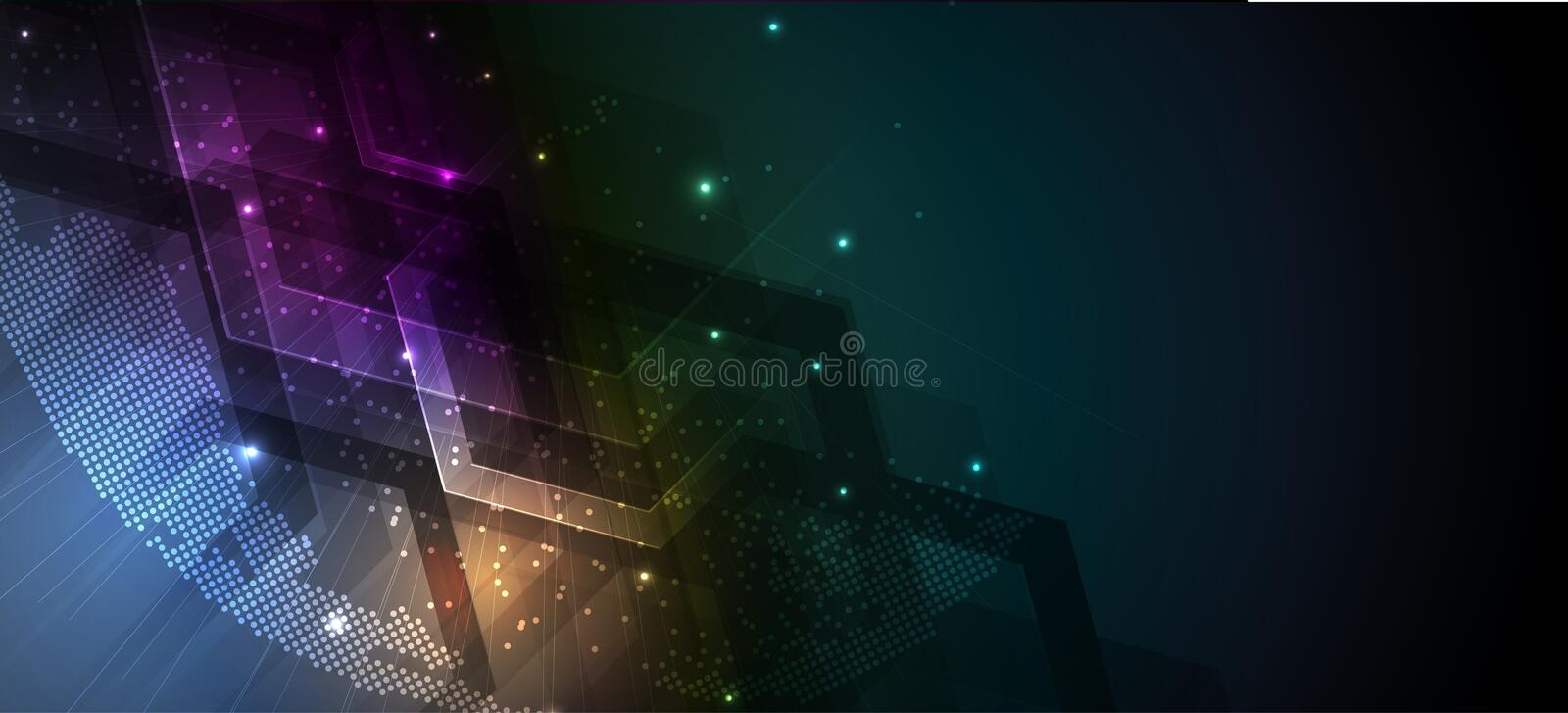 Abstract futuristic fade computer technology business background. Abstract futuristic neural computer technology business background royalty free illustration