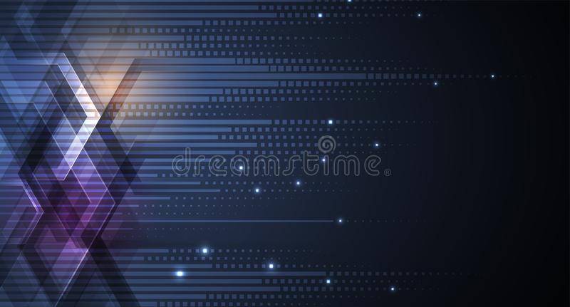 Abstract futuristic fade computer technology business background. Abstract futuristic neural computer technology business background stock illustration