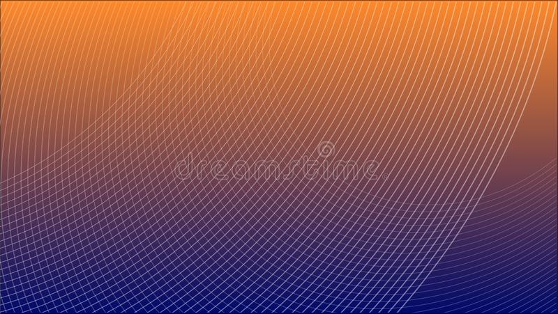 Abstract Futuristic Grid Gradient Network Web Background Scientific Engineering Information Technology Communication. royalty free illustration