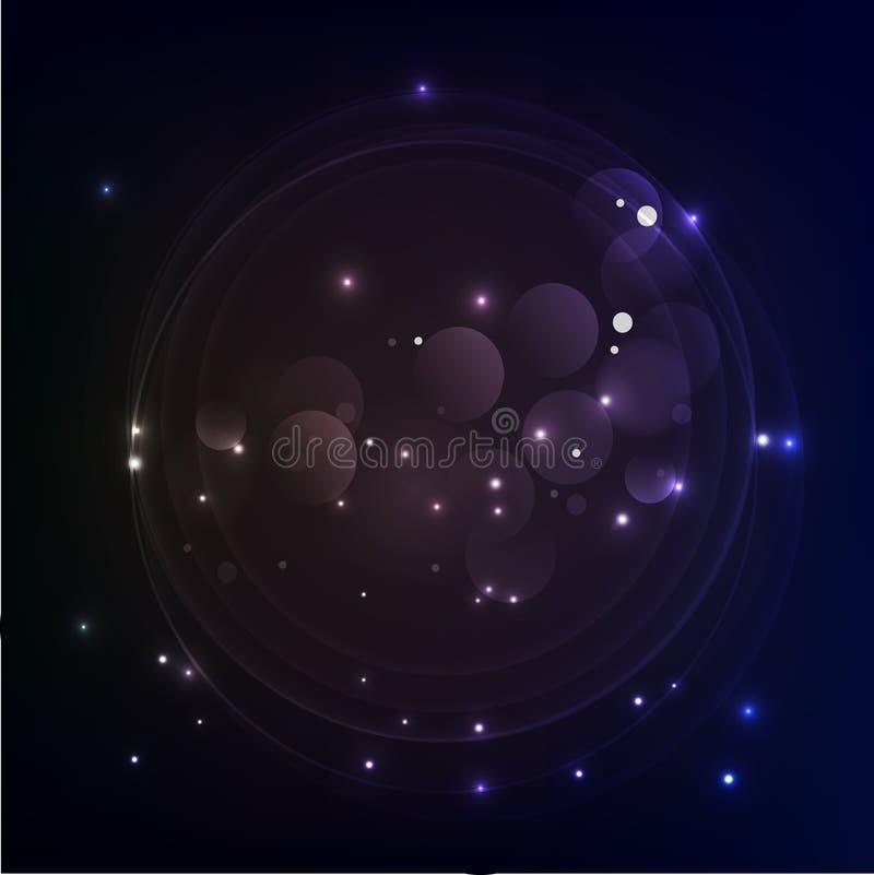 Abstract futuristic - Illustration Vector design digital technology concept. royalty free illustration