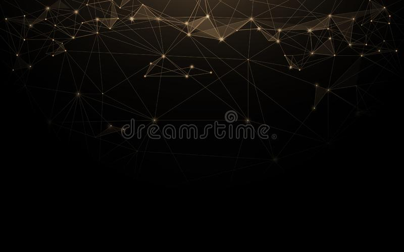 Abstract futuristic molecules connection technology digital hi tech on dark background.  vector illustration