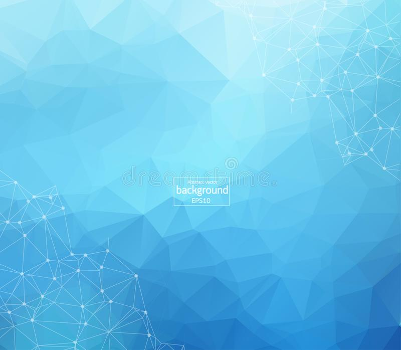 Abstract futuristic - Molecules technology with linear and polygonal pattern shapes on dark blue background. Illustration Vector d royalty free illustration