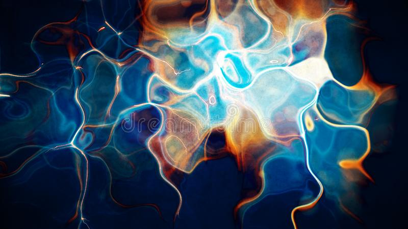 Abstract futuristic multicolored blue red liquid waves and ripple vector illustration