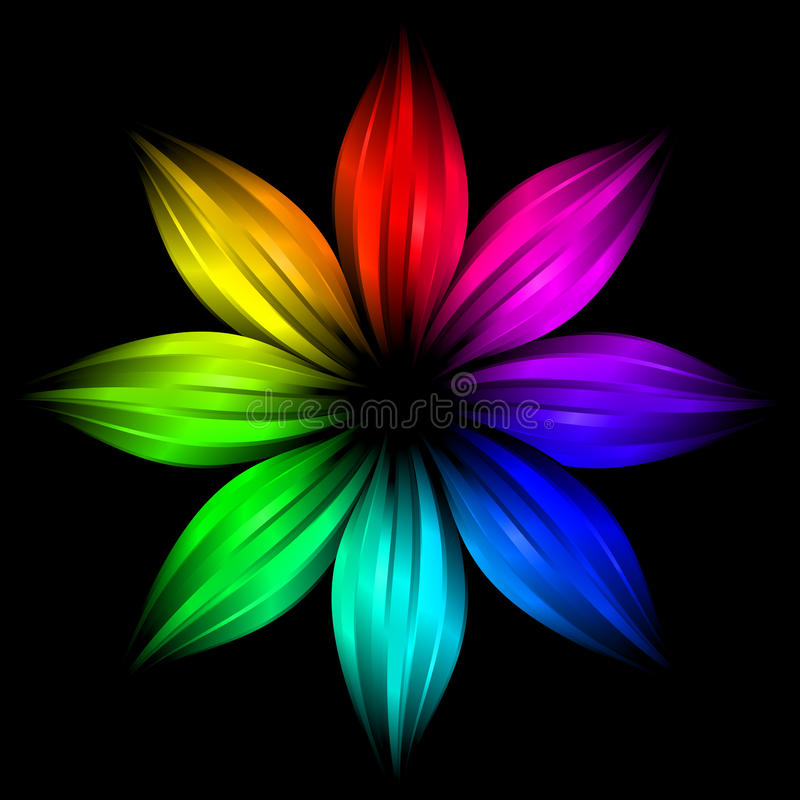 Download Abstract Futuristic Rainbow Flower Stock Illustration - Image: 10189601