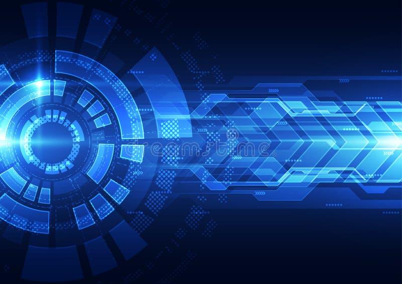 Abstract futuristic speed technology background. Illustration Vector. Innovation stock illustration