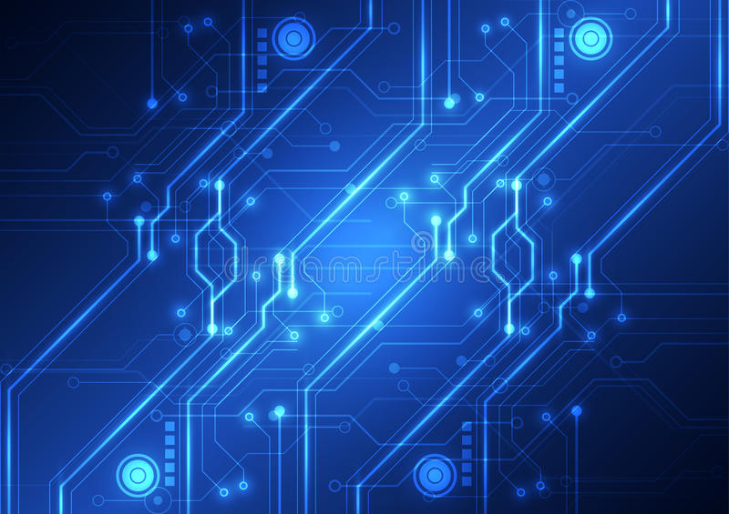 Abstract Futuristic technology circuit board background, vector illustration royalty free illustration
