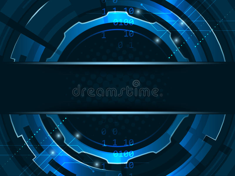 Abstract futuristic technology gear wheels background. vector illustration