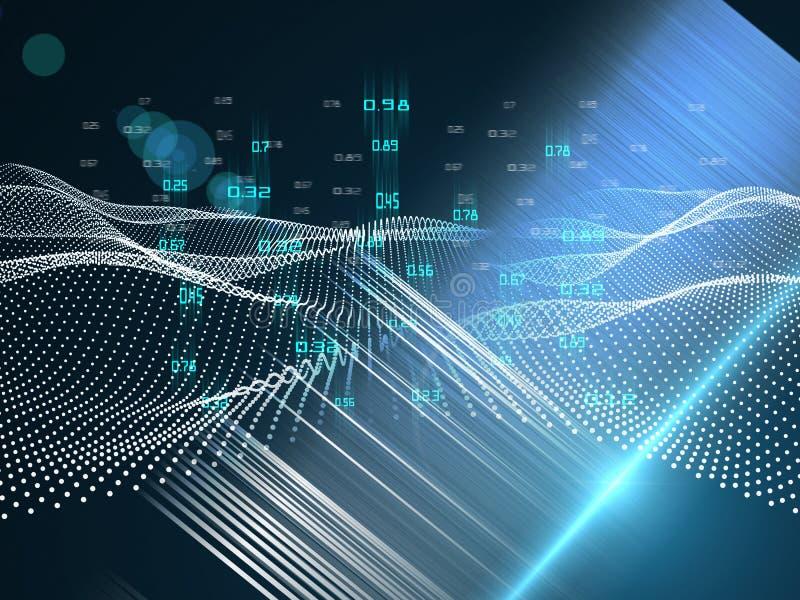 Abstract futuristisch concept van analyse Quantum virtuele cryptografie Bedrijfs visualisatie Grote gegevens royalty-vrije stock foto's