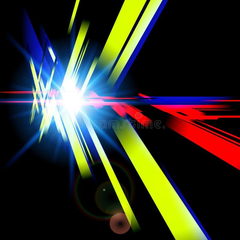 Abstract futuristisch ontwerp met verschillende kleurenvormen Digitaal royalty-vrije illustratie