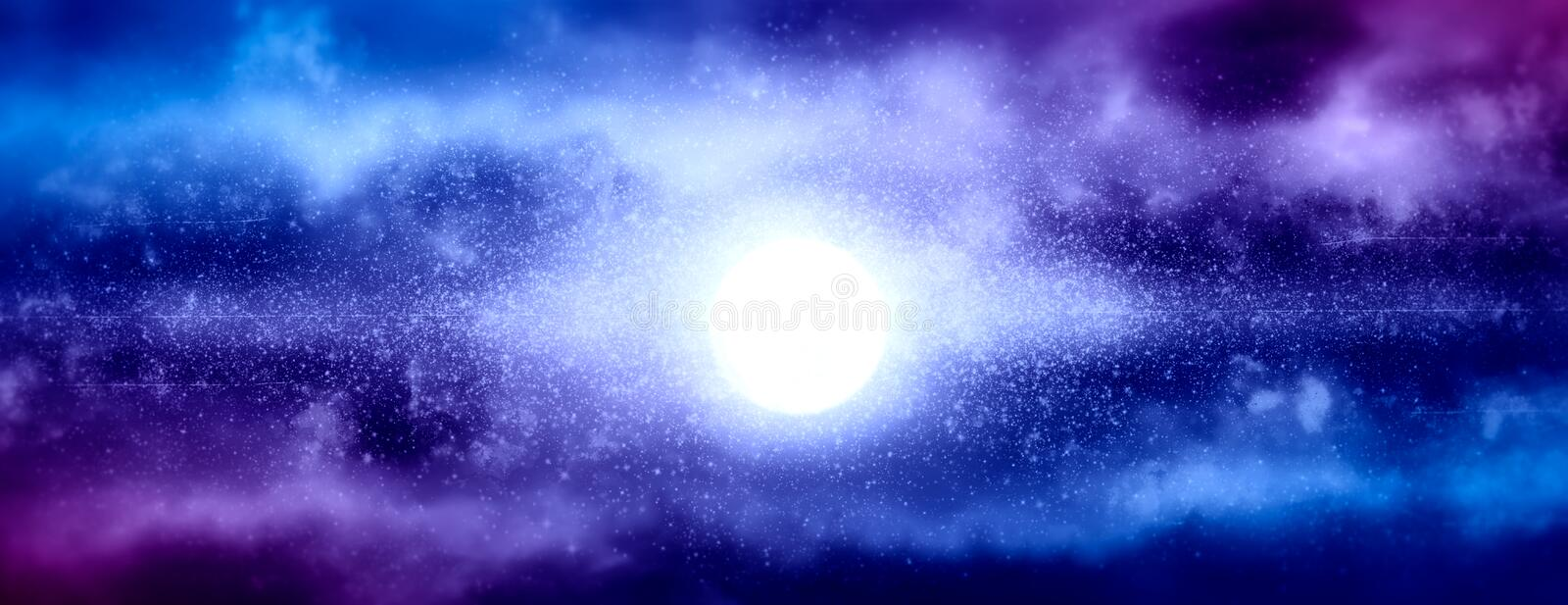 Abstract galaxy illustration royalty free stock photography