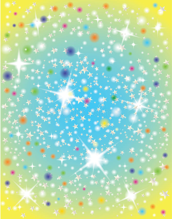 Abstract Galaxy With Stars Stock Image