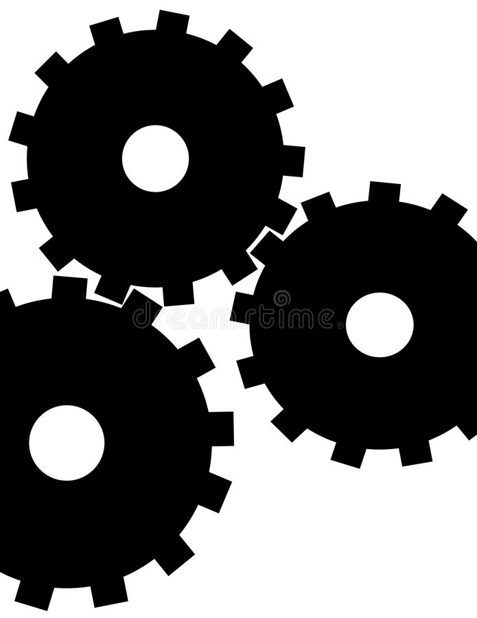 Abstract Gears royalty free illustration