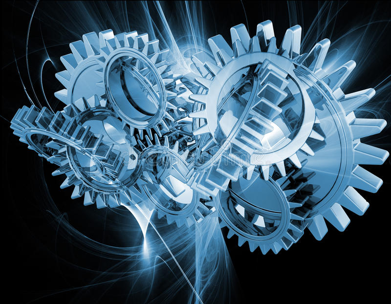 Abstract gears vector illustration