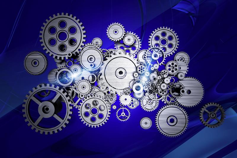 Abstract Gears Machine vector illustration