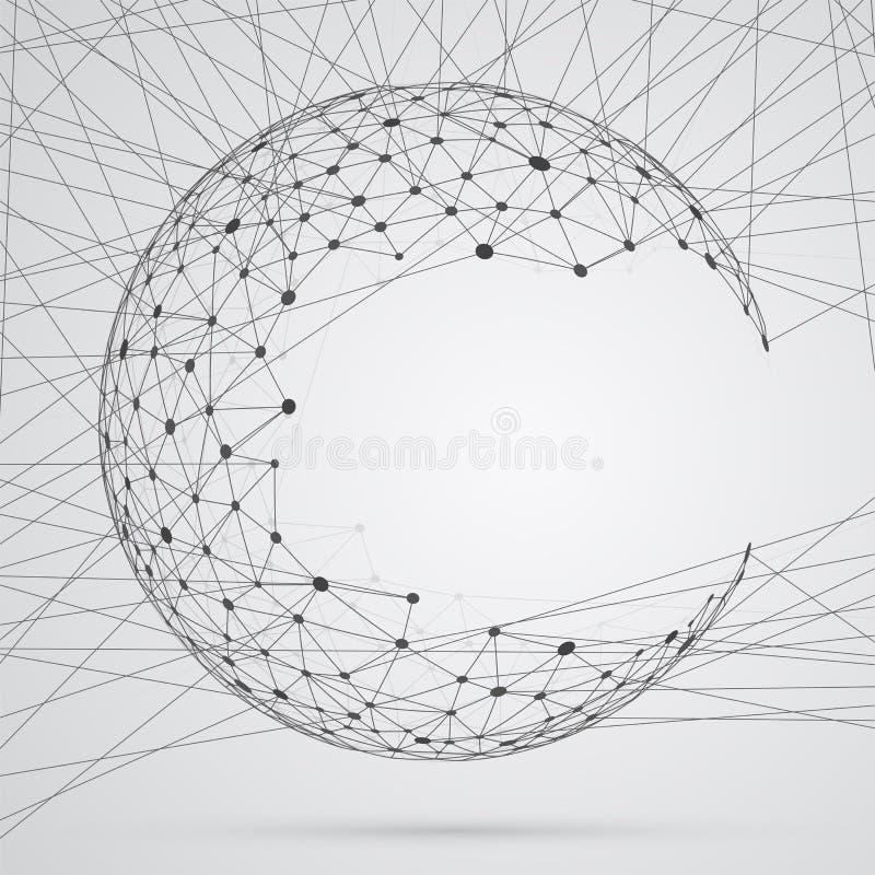 Abstract gebied van samenstellingen met punten vector illustratie