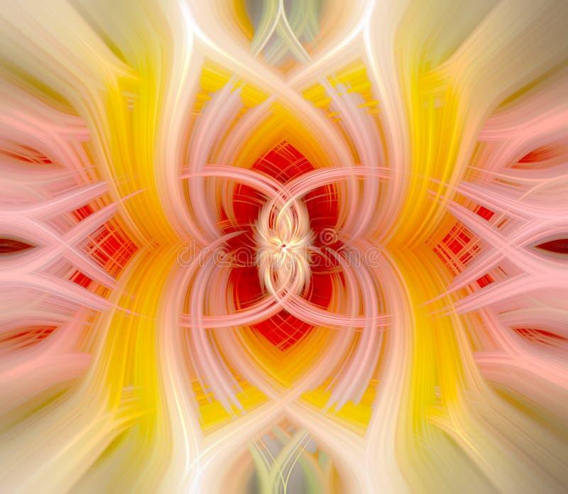 Abstract gedraaid fractal background digitale draai stock afbeeldingen