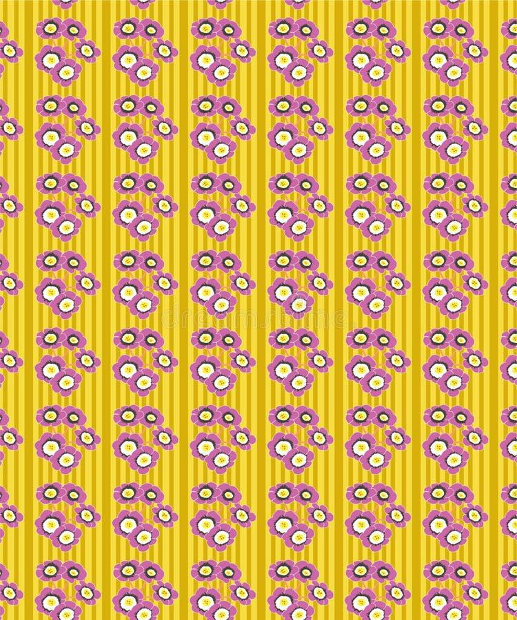 Abstract geel bloemen naadloos patroon stock illustratie